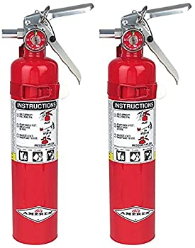 Amerex B417 BHLMPOI 2.5lb ABC Dry Chemical Class A B C Fire Extinguisher with Wall Bracket 2 Pack