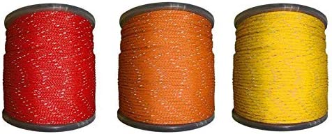 Coil 1//2 Inch by 50 Feet Koch Industries Twisted Polypropylene Rope Orange//Black
