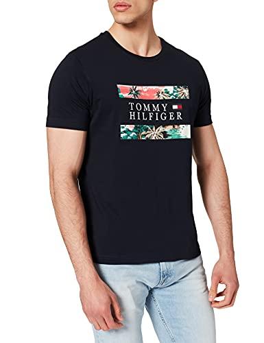 Tommy Hilfiger Hawaiian Flag tee Camiseta, Cielo del Desierto, L para Hombre