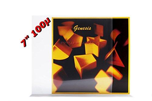 xi-media ®, 25 stuks, single platen, vinyl, buitenhoezen, beschermhoezen, 100 μ, polyetheenfolie, polyetheenfolie, 25 stuks