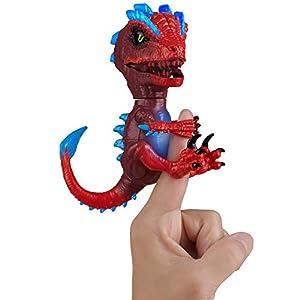 Wowwee- Raptor Gamma Mascota Interactiva, Color Rojo (3977)