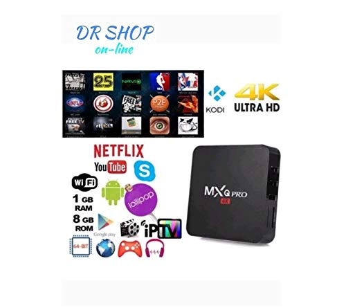 TV BOX ANDROID MXQ PRO 4K SMART IPTV OR7 PENTACORE 64 BIT WIFI 2+16 GB MINI PC
