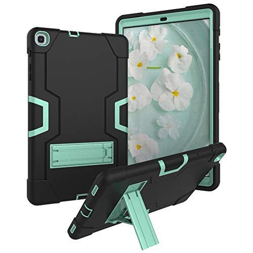 Bestgay Funda para Galaxy Tab S5e de 10.5 pulgadas 2019, SM-T720 / SM-T725, resistente a prueba de golpes y cuerpo completo híbrido con función atril para Samsung Galaxy Tab S5e (negro+verde menta)