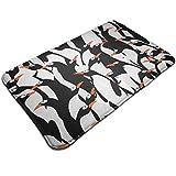 SHIJIAN Penguin - Alfombra de suelo para interiores y exteriores, alfombra de bienvenida con respaldo de goma para rascar zapatos, antideslizante, impermeable, fácil de limpiar, 19,5 x 31,5 pulgadas