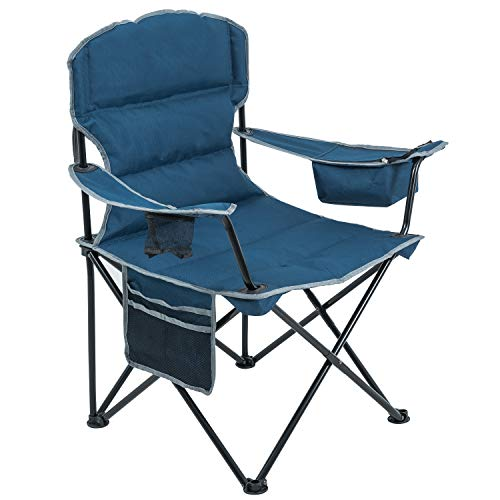 ARMOR CASTLE Padded Camping Folding Chairs for Heavy People Support...