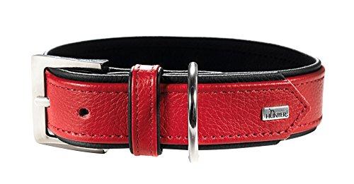 HUNTER CAPRI Hundehalsband, Leder, Nappa, weich, 55 (M), rot