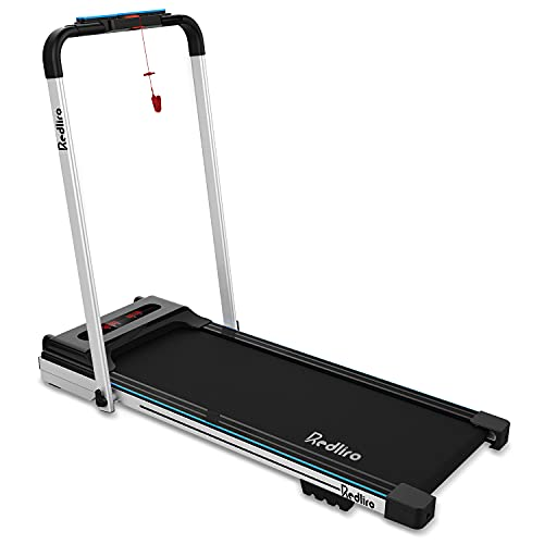 REDLIRO Under Desk Treadmill 2 in 1 Walking Machine Portable Space Saving Fitness Motorized Folding Treadmill Electric for Home Office Workout Indoor Exercise Machine Physical Training