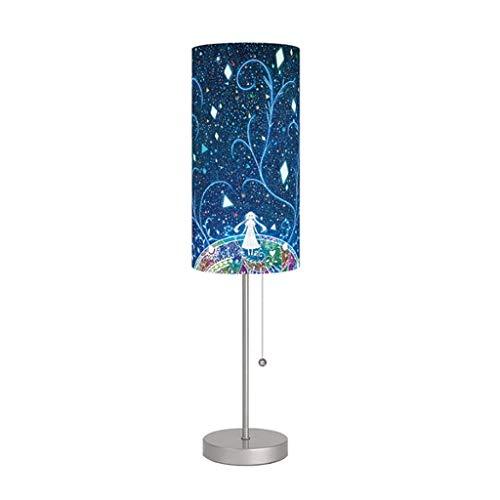 Moderne tafellamp slaapkamer blauw bedlampje creatieve mode bureaulamp dimming eenvoudig woonkamer strijkijzer verlichting