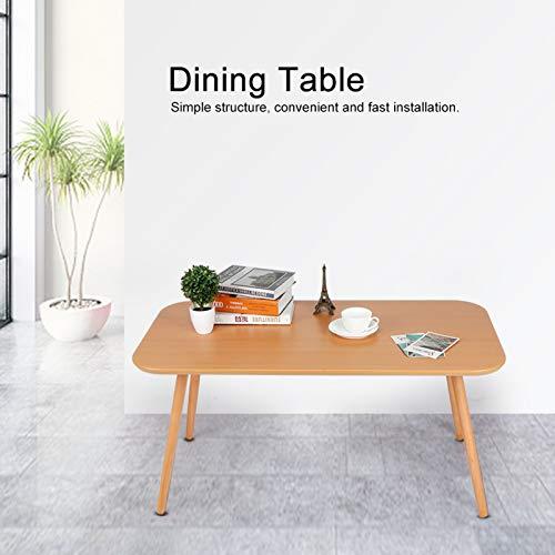 Zerone Mesa de Comedor de Madera, Mesa de Cocina Rectangular, Mesa de Comedor Moderna, Mesa de Centro, Escritorio de Desayuno para Sala de Estar, Cocina, 100x50x48,5 cm