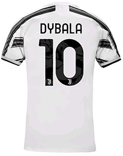 LISIMKEM 2020-2021 Kids/Youths Home Soccer Jersey/Short/Socks Colour White (Dybala #10(7-8years/size22))
