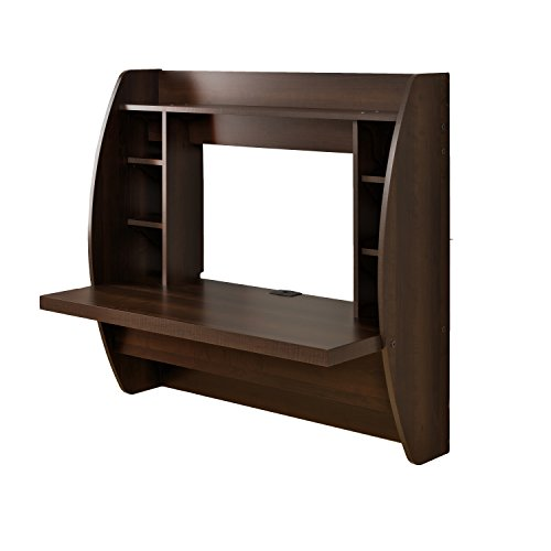 Product Image 2: Prepac Wall Mounted Floating Desk with Storage, Espresso