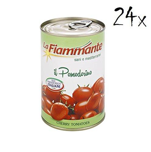 LA 24xLa Fiammante Pomodorini Ciliegini Cherry Tomatoes in Tomato Sauce 400g