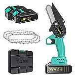 XRHM 98VF 5.2-Zoll-tragbare elektrische Mini-Kettensäge, wiederaufladbare Handheld-kabellose...