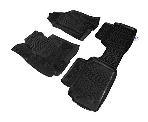 J&J Automotive - Alfombrillas de goma 3D exclusivas para Hyundai ix35 2010-2015 (4 unidades)