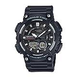 Casio Youth-Combination Analog-Digital Black Dial Men's Watch-AEQ-110W-1AVDF (AD207)