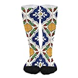 Calcetines deportivos unisex novedad alta comodidad transpirable atlético casual largo tubo calcetines - Talavera mexicano