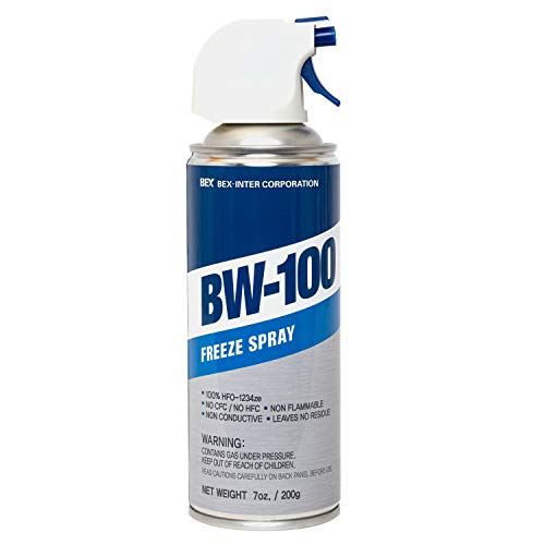 BW-100 Freeze Spray - Diagnostic Cooling Spray - Safe for Semiconductors, Capacitors, PCBs and More - Non-Flammable Construction | 7 oz/200g