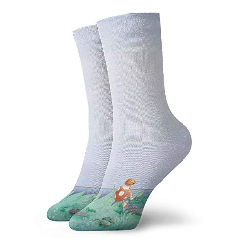 OUYouDeFangA Retro Frog Adult Socks Cotton Cool Short Socks For Yoga Hiking Cycling Running Soccer Sports