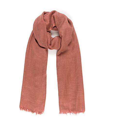Schals für Damen, modisch, leicht, einfarbig, für Frühling, Herbst - Rot - Einheitsgröße