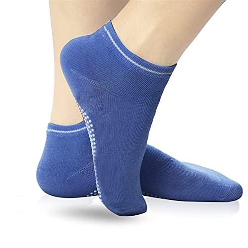 Yunbai Calcetines de Yoga Antideslizantes para Mujeres, Calcetines Antideslizantes para Barre, Pilates, Danza, Calcetines de Fitness con empuñaduras (2 Pares del Mismo Color)