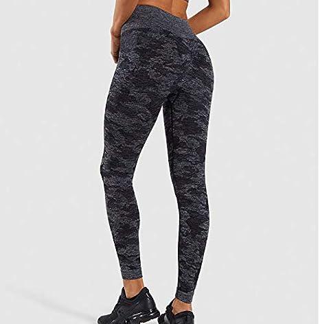 Para Mujeres Pantalones de Yoga Set Gimnasio Camo Corpiño Deportivo sin Costuras Leggings Push Up Traje de Ejercicio