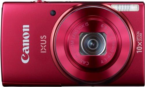 Canon IXUS 155 Digitalkamera (20 MP, 10-Fach Opt. Zoom, 6,8cm (2,6 Zoll) LCD-Display, HD-Ready) rot