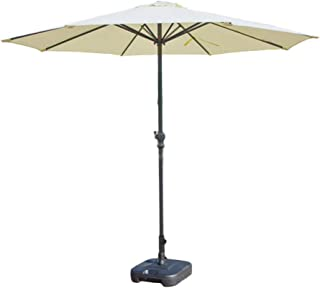 Shade Umbrella, Parasols Off-White/Khaki Patio Umbrella Outdoor Table Umbrella, Polyester Waterproof Anti-UV, Ø 9ft / 270cm