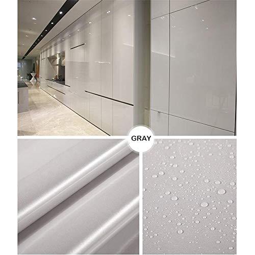 KimDaro 61cmX550cm Selbstklebende für Möbel, Küche, Wasserdicht Vinyl, Designfolie Selbstklebend, Grau