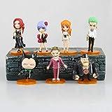 CXNY 7 unids/Set una Pieza Nami Roronoa Zoro Anime Figura de acción PVC Nueva colección Figuras Juguetes colección