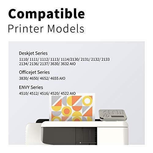 LEMERO 302XL Wiederaufbereitet Druckerpatronen Ersatz für HP 302 XL für HP Officejet 3833 3834 3830 3832 4650 4654 Deskjet 3630 2130 1110 Envy 4522 4524 4525 4520 Drucker,Schwarz und Farbe