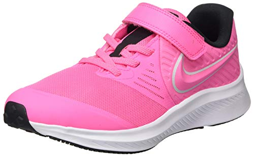 Nike Unisex-Child Star Runner 2 (PSV) Running Shoe, Pink Glow/Photon Dust-Black-White, 34 EU