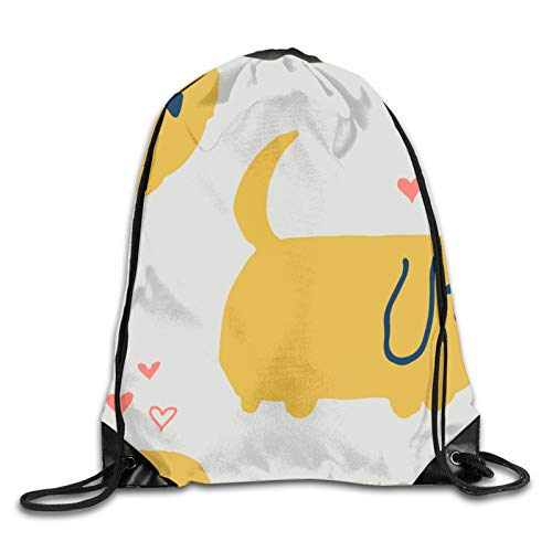 Lindo perro impresión 3D lazo mochila hombro bolsas gimnasio bolsa casual running daypack