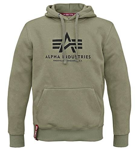 Alpha Ind. - Sweat-shirt à capuche - Uni - Manches Longues - Homme - vert - Medium