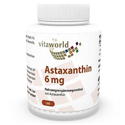 Vita World Astaxanthin 6mg 60 vegetarian Capsules Antioxidants Made in Germany