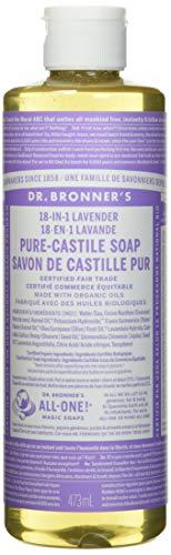 Dr. Bronner's Jabón líquido puro de lavanda orgánica, 473 ml