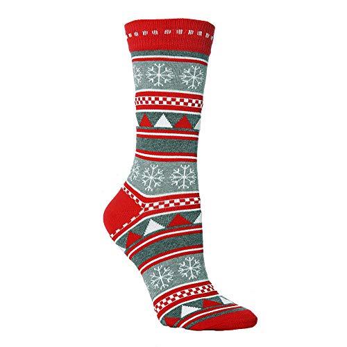 STYLEEA Unisex weiche Baumwollsocken Warm Weihnachten Socken für Männer und Frauen Weihnachtssocken Weihnachtsmann Weihnachten Socken