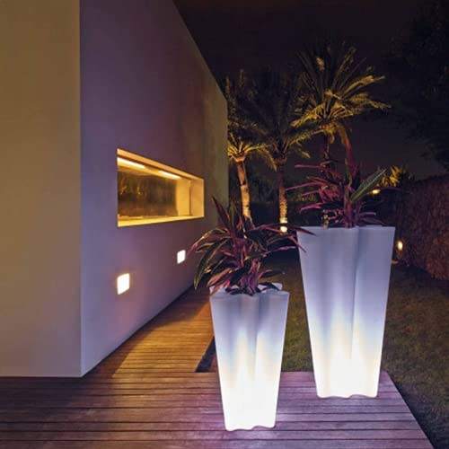 Vondom Bye Bye Bye - Maceta luminosa LED (altura 70 cm), color blanco