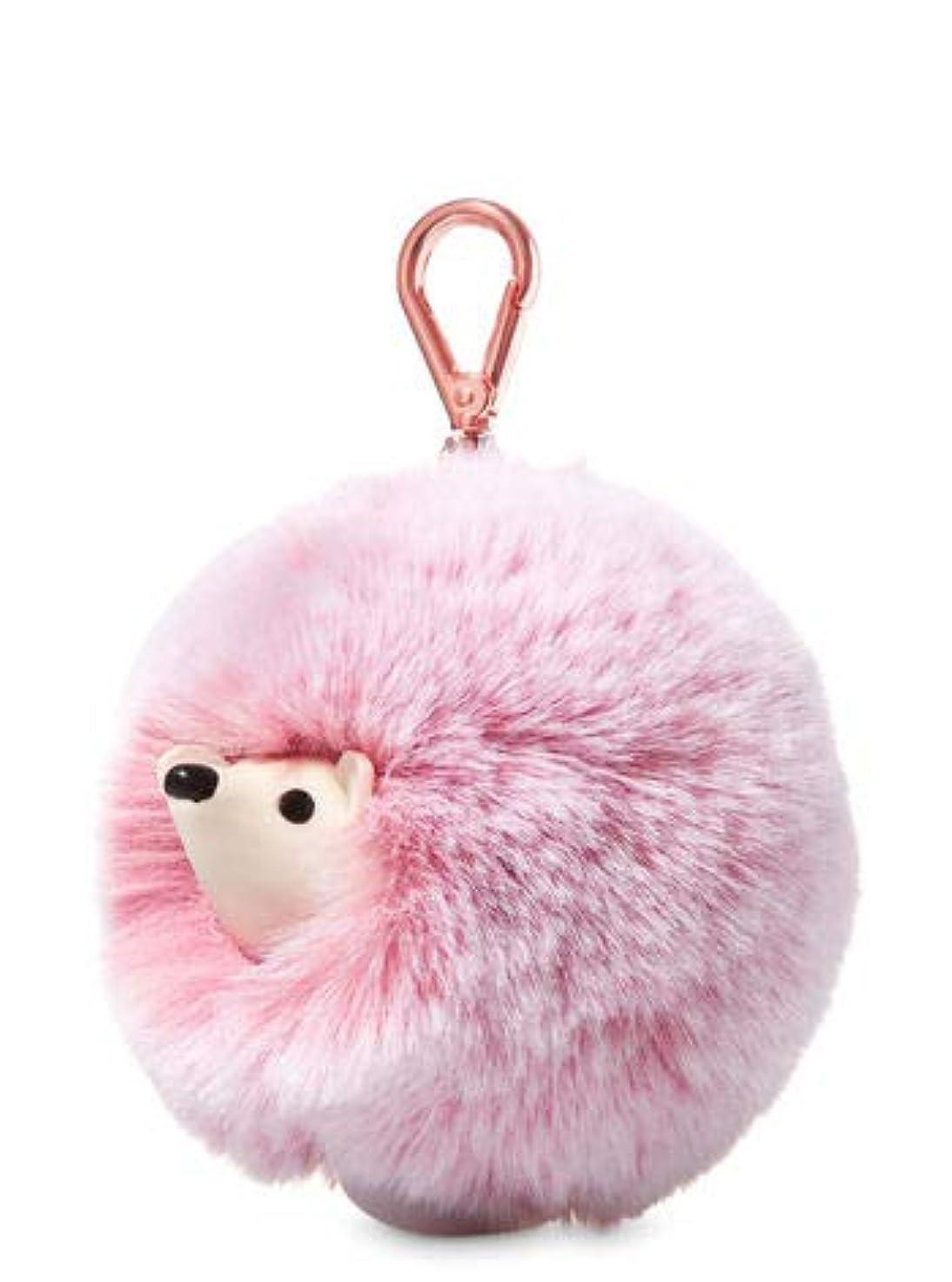 居心地の良いおとうさん電子レンジ【Bath&Body Works/バス&ボディワークス】 抗菌ハンドジェルホルダー ピンクヘッジホッグポンポン Pocketbac Holder Pink Hedgehog Pom-Pom [並行輸入品]