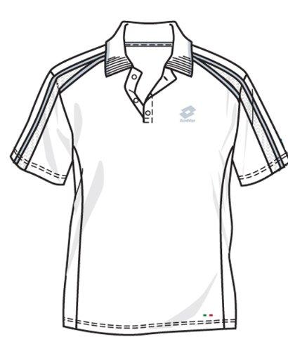 Lotto - Tennis-Poloshirts für Herren in white/fog, Größe XXL (54)