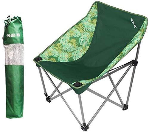 WJXBoos Silla Plegable de Camping, Silla portátil de jardín Ultraligera para Exterior con Bolsa de Transporte (hasta 140 kg) para Excursionista, Camping, Playa