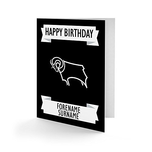 Official Personalised Derby County Crest Birthday Card