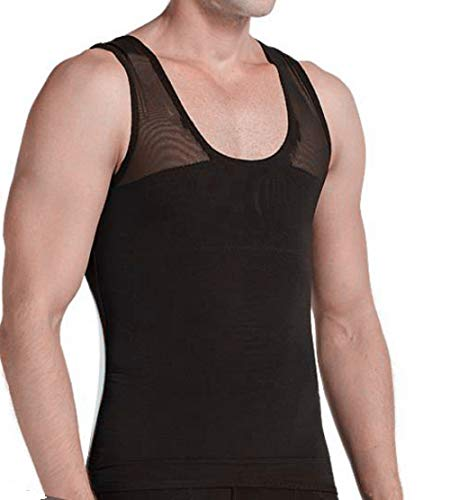 findthem3859 Gynecomastia Chest Compression Shirt to Hide Man Moobs Shapewear Slimming Body Shaper Posture Correction Vest (Black, 3X-Large)