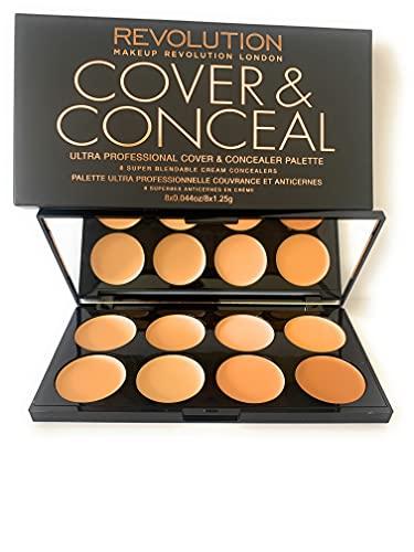 Makeup Revolution-Palette ultracoprente e correttori -da leggero a medio
