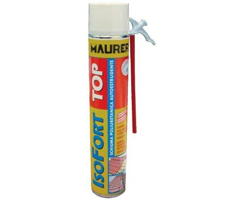Schiuma Poliuretanica Isofort Top Maurer 750 ml per sigillare, isolare fissare