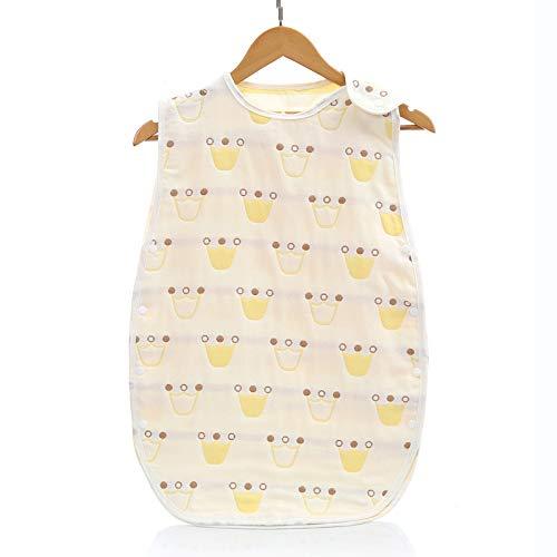 HAIHF Babyschlafsack 0.5 Tog Schlafsack Baby aus Atmungsaktiver Baumwolle Leichter Ganzjahresschlafsack Einstellbar für Sommer Größe:60-80cm für 3-18 Monaten
