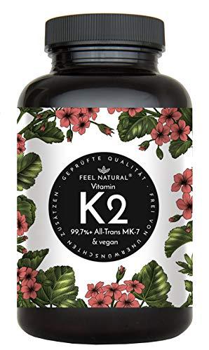Vitamin K2 MK7-365 Kapseln. Hochdosiert mit 200µg (mcg) je Kapsel. >99% All-Trans. Laborgeprüft, ohne Zusätze wie Magnesiumstearat. Vegan, hergestellt in Deutschland