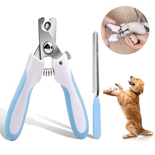 Krallenschere,Professionelle Krallenpflege Krallenzange mit Sicherem Abstandshalter und Krallenfeile für Große & Mittelgroße Hunde & Katze in Tiersalon