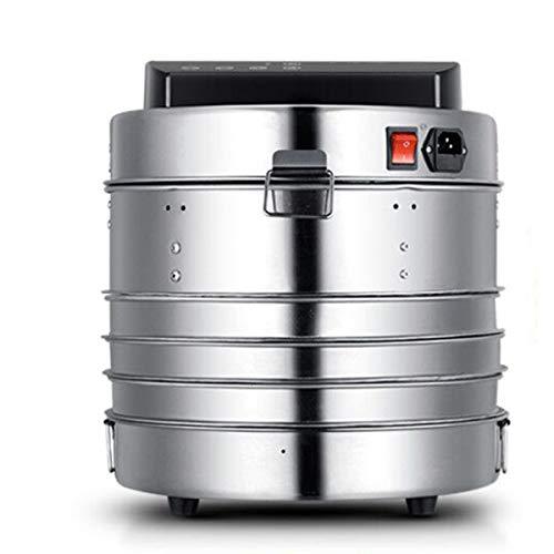 Lxn Mini deshidratador de alimentos de acero inoxidable para el hogar Temporizador ajustable y control de temperatura | Hierba, Carne, Fruta, Verdura | Pantalla táctil LED | 3 bandejas