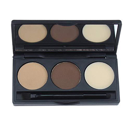 Palette de poudre de sourcil de couleur 3 cosmétique rehausseur de sourcils de maquillage imperméable avec la boîte de miroir