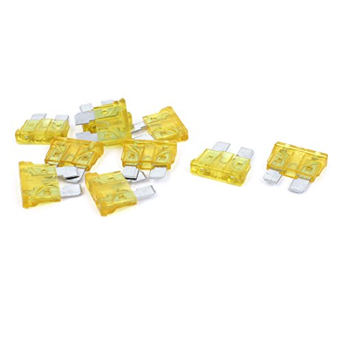 uxcell 10PCS Yellow 20A 32V Standard ATO Car Blade Fuse